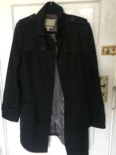 Banana Republic Black Wool Winter Coat