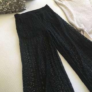 💖 Black Lace Flare Pants