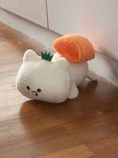 Sushi sashimi cat plush