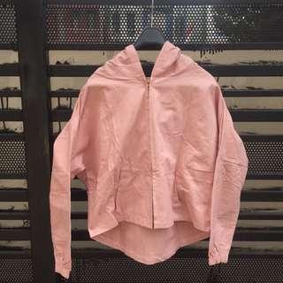 Japan pink blush hoodie jacket