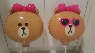 Line friends Choco熊妹氣球