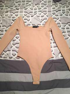 BNWOT Pretty Little Things nude bodysuit