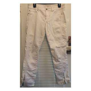 WHITE DENIM JEANS SIZE 10