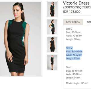 Green Black Office Dress
