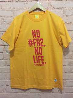 "#FR2 Fxxkingrabbits ""No Life Yellow Slogan"" Short Sleeve"