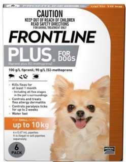 Frontline Plus (up to 10kg Dogs) - New packaging!