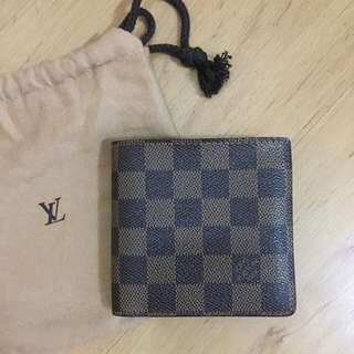 Authentic Louis Vuitton Damier ebene Men's Bifold Wallet