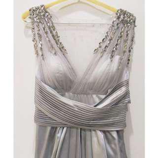Luxury Silver Dress