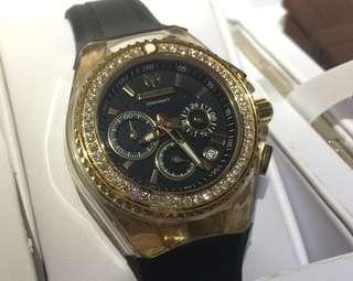 最後一隻黑面 全新 Technomarine Diamond Watch 18k 真鑽石 女裝 手錶 瑞士 1卡鑽石 情人節 情人節禮物 生日禮物 原價$18000