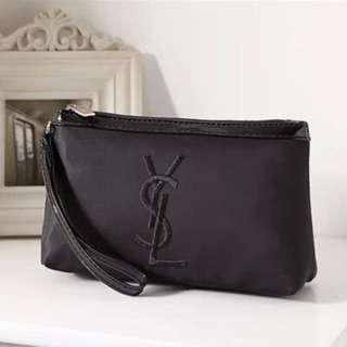 YSL手機袋化妝包外出包手拿包(黑色)