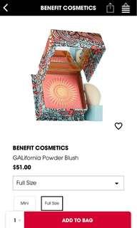 Benefit GALifornia powder blush