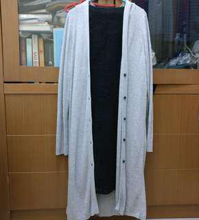 Uniqlo Cardigan Abu-abu / Gray