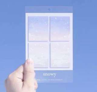 BN Snow Flake Sticky Memo Notes