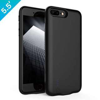 iPhone 7/ 7 plus battery case /iPhone 8/ 8 plus battery case,JOYROOM Extended Portable Charger case for iPhone 7/ 7 plus,iPhone 8/ 8 plus (5.5 inch)battery charging pack 3800 mAh capacity Slim Juice Bank (Black)