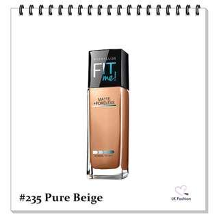🚚 💕 Instock 💕 Maybelline Fit Me Matte + Poreless Foundation 💋 #235 Pure Beige 💋