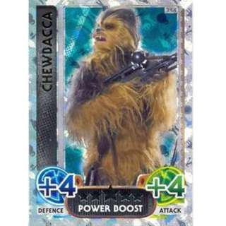 Looking Force Attax 2016 Chewbacca(214) and Rey Limited