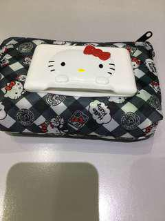Hello kitty tissue pouch with wet wipes