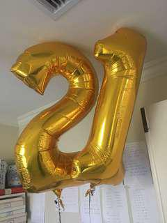 XL Foil Number Balloons