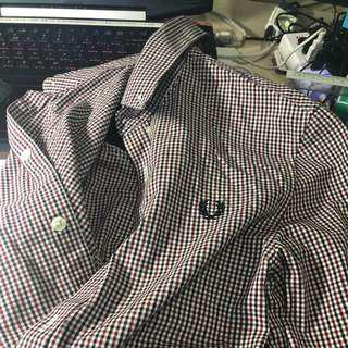 🚚 Fred perry checkered shirt