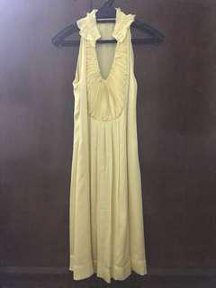 Yellow Halter Neck Dress #50under