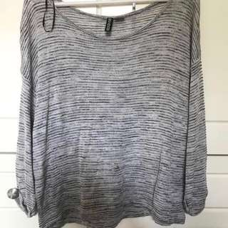 H&M Knitted Grey Top