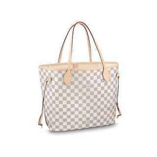 Neverfull Damier Azur MM Tote Bag