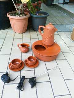 Terracotta Teapot Fountain DIY set