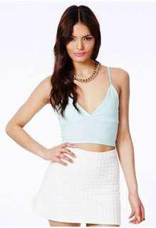 Missguided mint bralet