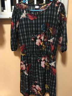 🚚 Authentic Bossini Silk Dress 3/4 sleeves XS to S