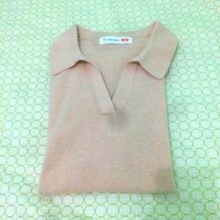 UNIQLO Tomas Maier Short Sleeve Knit Polo Sweater