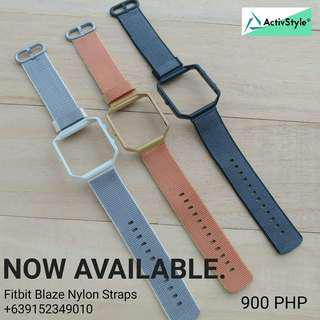 New straps alert!  Fitbit Blaze Nylon Straps and Frame Set For that extra tough and funky look