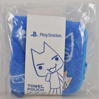 (全新) PS4 SONY 貓 TORO 多樂貓 Towel Pouch 毛巾袋 - 可以裝水樽 游水 旅行 外遊必備