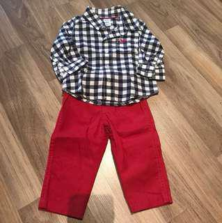 Carter shirt pants set