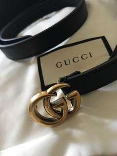Gucci - Double G Leather Belt