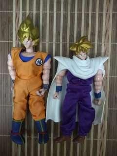 龍珠Z Dragon Ball Z 超级西爾人 孫悟空 孫悟飯 Full Action Post Figure 玩具 共2個 包郵