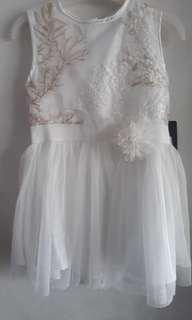 Dress party white #maucoach