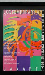 Contemporary Art Poster im Black Frame