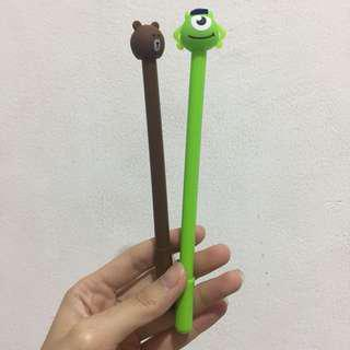 Pulpen karakter brown dan monster inc