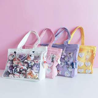 Limited preorder Bag with Clear Compartment