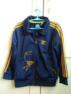 Adidas kids outwear jacket navy dinosaur