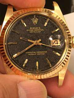 Rolex 18K 1601  Datejust with topical back dial