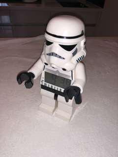 Lego stormtrooper Star Wars clock