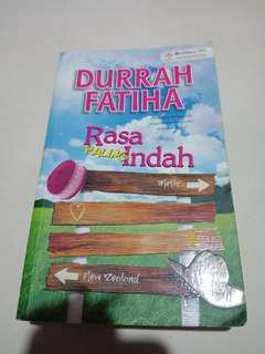 Novel Rasa Paling Indah
