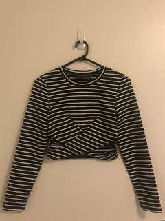 NEW- The Fifth Label striped crop