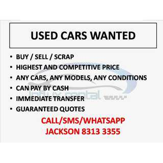 Used Cars Wanted Urgently
