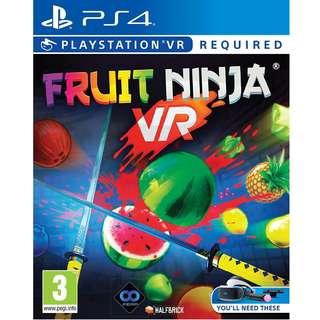 (全新) PS4 PSVR Fruit Ninja VR (歐版) - 水果忍者 切生果 切水果 經典遊戲 **只支援VR**