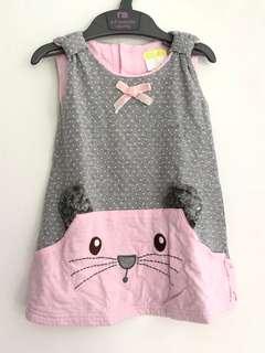 Kitty Baby Dress 3-6mo