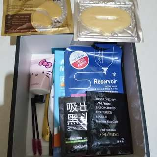 Paket box mask isi 14 + hand lotion Import Original