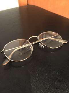 Silver frame glasses (non-prescription)