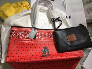 Authentic COACH Disney Mickey Tote bag reversible